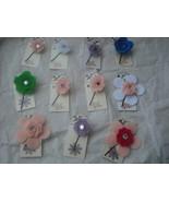 160 Assorted Random Mix Polyester Flower Bobby ... - $20.00