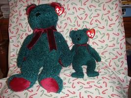 Ty 2001 Holiday Teddy Beanie Buddy And Beanie Baby Bears - $17.99