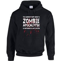 075 Zombie Apocalypse Hoodie retro funny zombie walking lover ALL SIZES/... - $30.00