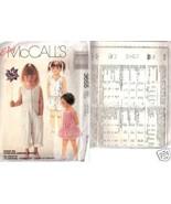 McCalls 3655 Childrens Dress Jumpsuit And Romper Sz Med - $3.00