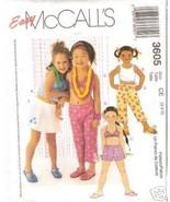 McCalls Pattern 3605 Bikini Top Shorts Skort Sz 3-5 - $6.00