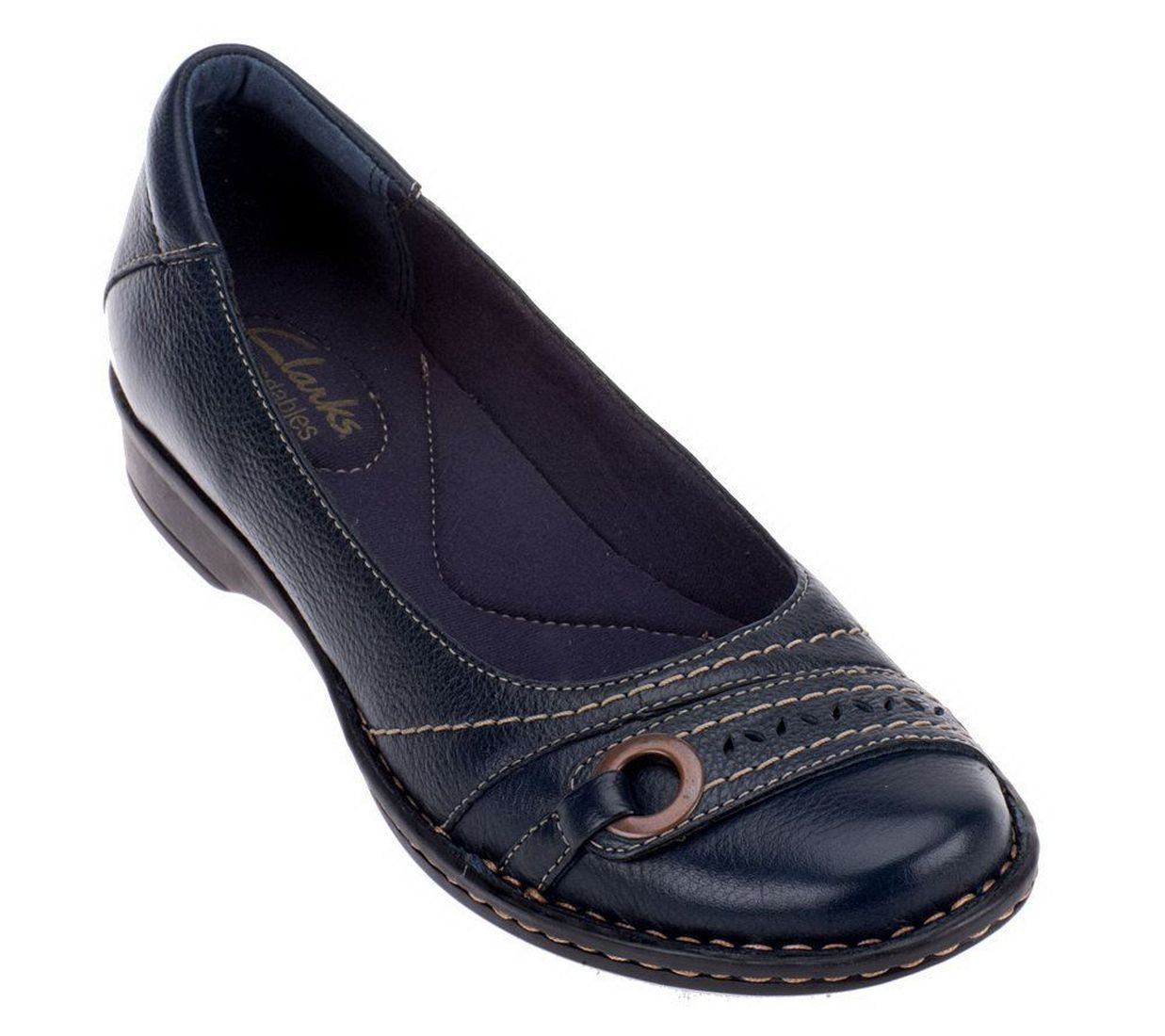 Clarks Bendables Recent Dutches Slip On Shoes Stitching