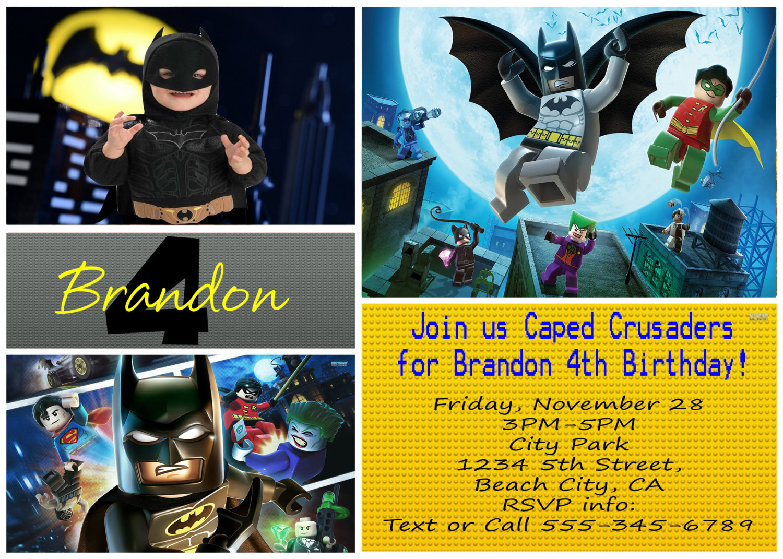 Il Fullxfull701116290 Ownn Previous Lego Batman Birthday Party Personalized Invitation