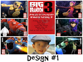 Big Hero 6 Personalized Birthday Party Invitation and Thank You Card (Pr... - $9.00
