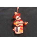 Mexican Fiesta Mariachi Snowman Guitar Sombrero Ornament   - $11.49