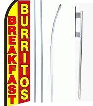 Breakfast Burritos Standard Economic Size Swooper Flag Sign Complete Set  - $62.99