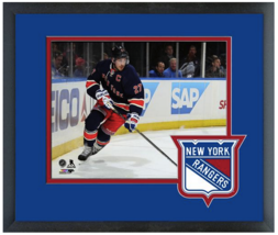 Ryan McDonagh 2014-15 New York Rangers - 11 x 14 Team Logo Matted/Framed... - $43.55