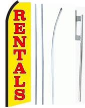 Rentals Standard Economic Size Swooper Flag Sign Complete Set  - $62.99