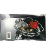 Glass Candy Dish Cluster of Grapes Shaped Small Snacks Serving Dish NIB - $8.99