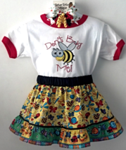Embroidered Toddler T-Shirt, Skirt & Pony-O - Don't Bug Me - Size 4 - $22.95