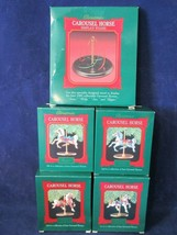 Hallmark 1989 Complete Carousel Horse Display Stand Set IOB Box Damage - $25.00