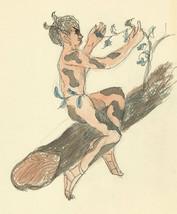 Margaret Estelle Zelda Levinson - 20th Century Pen and Ink Drawing, Nymph - $47.95