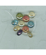 Faceted Puffy Rondel Rondelle  Glass Beads Contemporary Czech Made Mixed... - $6.99