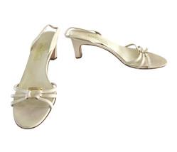 Salvatore Ferragamo Beige Leather Strappy Slingback Sandals Shoes size 9 - $26.00