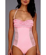 JUICY COUTURE PRIMA DONNA RUFFLE BANDEAU SWIMSUIT PINK LADY SZ XS,M,L NWT - $114.29
