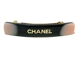CHANEL Authentic 01A Plastic Logo Barrette Hair clip Black Used - $387.99