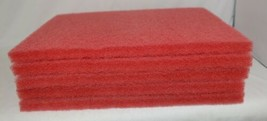Tri Lateral Sales 40441420 Red Rectangle Buffing Pad 14 By 20 Inches 5 Pack image 2