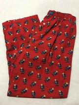 Polo Ralph Lauren Medium Red Vtg Teddy Bear Flowers Heart Lounge Pants Valentine - $34.99