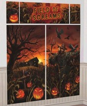 Field Of Screams Scene Setters Wall Decoration Kit Halloween Cornfield - $7.88