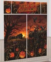 Field Of Screams Scene Setters Wall Decoration Kit Halloween Cornfield - $7.88