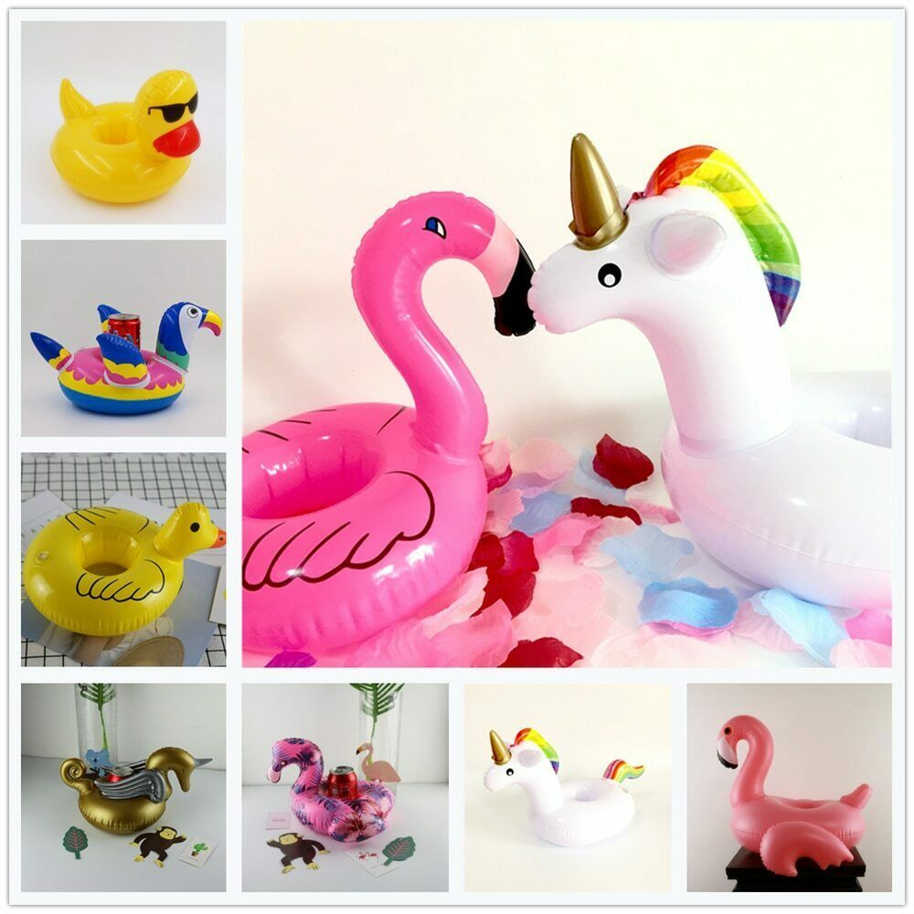 Primary image for Cup Holder Coasters Baby Shower Flamingo Unicorn Swim Pool Party Float Beach