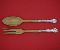 "King Edward by Gorham Sterling Silver Salad Serving Set 2pc HH with Wood 10 1/4"" - $109.00"