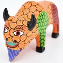 Handmade Alebrijes Oaxacan Wood Carved Painted Folk Art Buffalo Figurine image 2