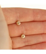 0.25ct Diamond Stud Earrings Dainty Diamonds 14k Yellow Gold Uk BHS - $254.03