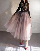 Rose Sparkle Skirt Long Tutu Glitter Skirt Rose Gold Sequin Skirt Floor Length image 3