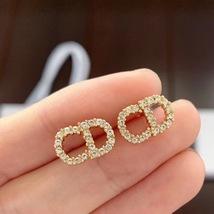 Authentic Christian Dior 2019 CD LOGO CHAIN STAR DANGLE DROP Earrings image 9