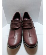 Easy Street Graham Burgundy Comfort Wave Faux Leather Side Zipper Shoes ... - $22.39