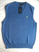 Mens Polo Ralph Lauren Lightweight Jersey Knit Pima Cotton V-Neck Sweate... - $39.59