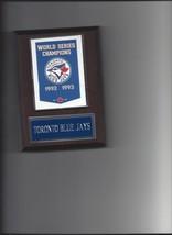 TORONTO BLUE JAYS WORLD SERIES BANNER PLAQUE CHAMPIONS CHAMPS BASEBALL MLB - $3.95
