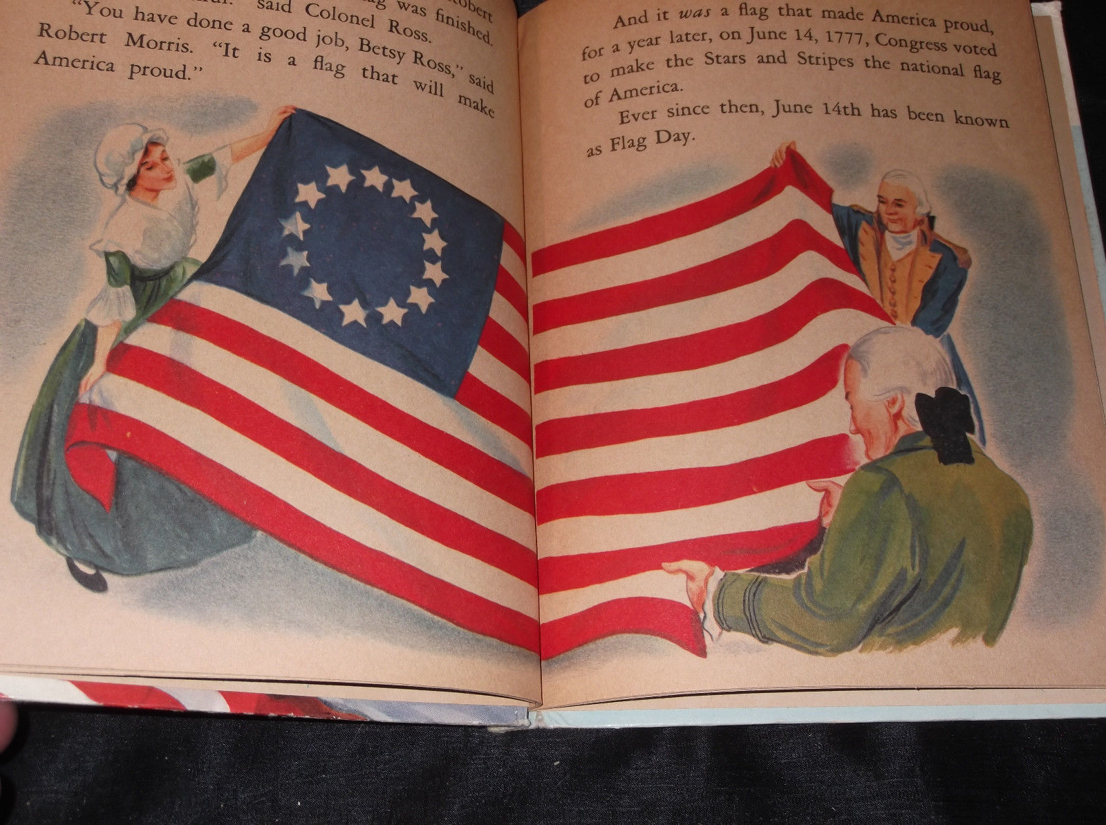 Vtg THE STORY OF OUR FLAG Rand McNally Elf Children's Book HC Illustrated