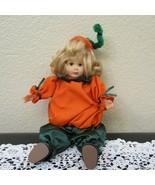 """10-1/2"""" Porcelain Pumpkin Dressed Doll - $8.41"""