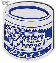 Foster Freeze Pints Laser Cut Out Of Metal 12x14 - $25.74