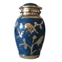 Blessing Silver Birds Small Keepsake Urn, Cremation Urns for Ashes - $42.00