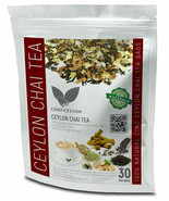 Masala Chai Tea Organic Herbals 30 Tea Bags Burns Fat 100% Natural - $11.63