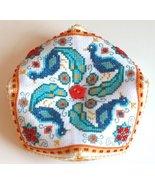 Peacock Biscornu cross stitch chart Tiny Modernist Inc - $8.10