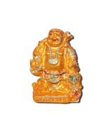 Unbreakable LAUGHING BUDDHA holding potli / bag , Golden Colour / Idol /... - $21.99