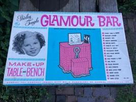 RARE Vintage SHIRLEY TEMPLE GLAMOUR BAR Make Up Table Bench Furniture Ga... - $296.95