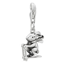 Pugster Amore LaVitatm Rabbit Gliding Dangle Sterling Silver Clasp Charms - $24.49