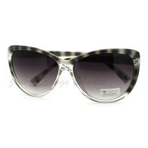 Oversized Round Cateye Sunglasses Womens Fashion Heart Tip - £6.04 GBP