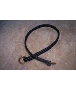 "Dog Stuff - 21"" black leather choke  - $20.00"
