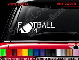 Football Mom Decal Sticker Mini Van Footballs Mo Ms Mother Decals Stickers - $8.99