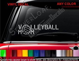 Volleyball Mom Decal Sticker Mini Van Volley Ball Mo Ms Mother Decals Stickers - $8.99
