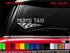 MOMS TAXI Decal Sticker MiniVan car Soccer MOM Mother Decals Stickers - $9.99