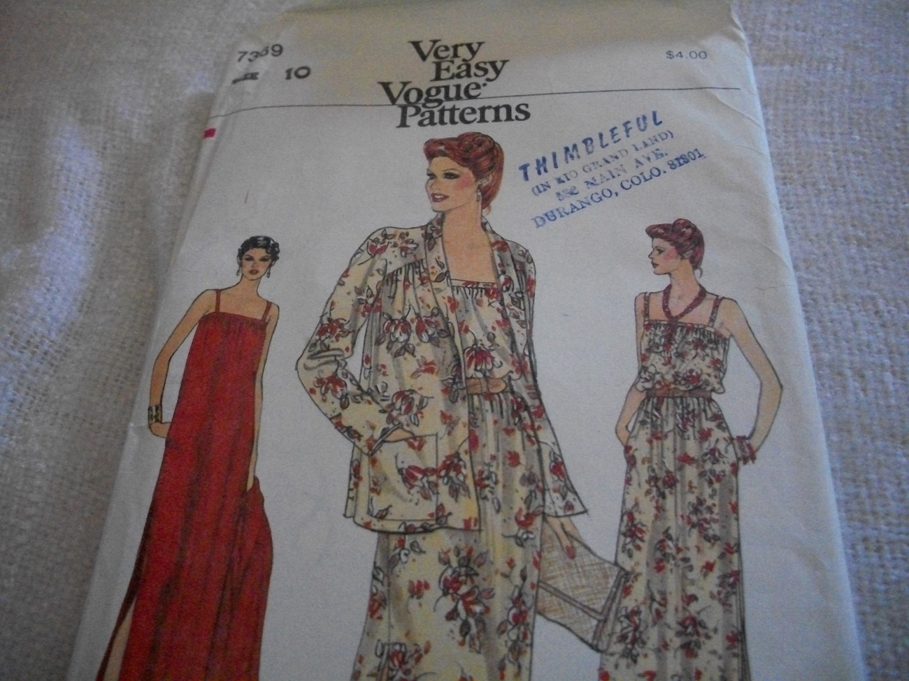 Vintage Woman's Jacket & Dress Pattern Vogue 7369