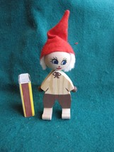 Vintage Wood Christmas Doll Elf Gnome Santa Tomte Sweden Figurine Figure - $15.00