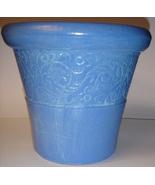 Lavender Ceramic Planter w/ Vine Motif - $6.00